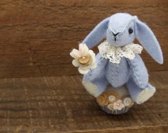 Miniature Felt Bunny Rabbit Pincushion