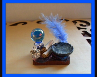 dollhouse miniature Moon Spell tray Potion Witch ooak Glows in Dark Can be custom made too