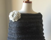 The Grey French Capelet with Flower - No Seam Line