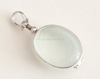 Oval Glass Locket Sterling Silver Keepsake finding