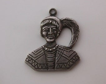 Vintage Sterling Silver Native Person Charm