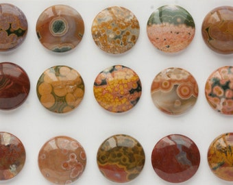 18mm Beautiful Unique Round Ocean Jasper Cabochons