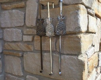 Wreath Holder, Decorative Hangers, Accessories for Wreaths, Pineapple Wreath Holder Door Hook, Bronze Door Hook, Nickel Door Hook