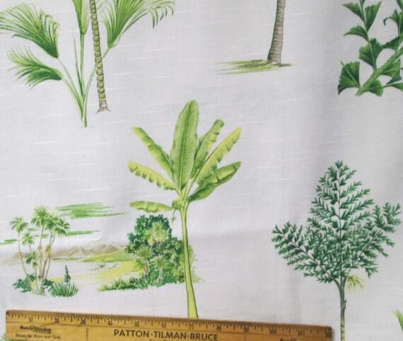 Waverly Fabric 114x57 Home Decor Fabric Yardage Tropical Toile Palm ...