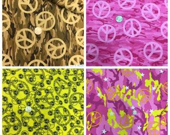 Peace Signs Fabric, 4 styles, per YARD