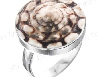 Unique Spiraling Cone Shell 925 Sterling Silver Us 9 Ring