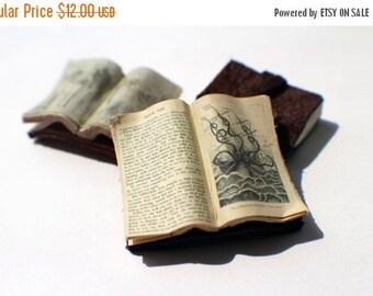 ON SALE Miniature Open Book --- Sea Monster