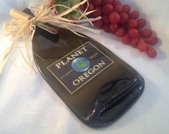 Planet Oregon Wine Bottle Cheese Tray