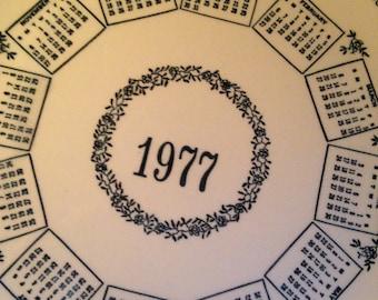 1977 Calendar Plate