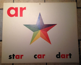 ar Large Classroom Phonics Teaching Poster Card