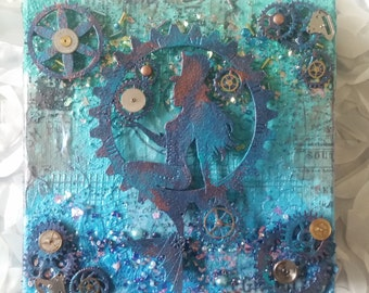 Steampunk Mermaid in Blue #2
