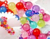 Bubble Charms - 23mm Transparent Drop Bubble Shape Ball Charms Acrylic or Plastic Dangly Charms or Pendants - 40 pc set