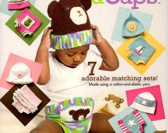 Crochet Pattern Leaflet - Diaper Covers & Caps - 7 Adorable Matching Sets
