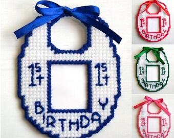 Babys First Birthday Photo Magnet