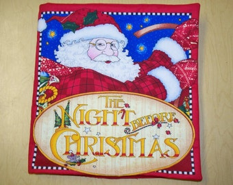 "Children's Fabric Book, ""Twas the Night Before Christmas"" (Free US Shipping)"
