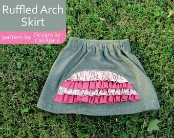 Ruffled Arch Skirt PDF Pattern