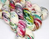 Squish DK - 250 yards - Hand Dyed Superwash Merino Yarn - Graffiti