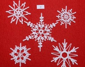 Crocheted Snowflakes - set 12