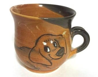 Deep Shino Dachshund Mug