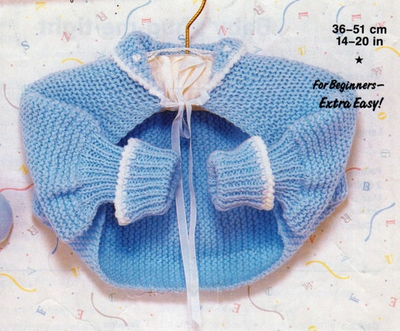 Knitting Patterns With Two Colors : PDF Knitting Pattern / Baby Knitting Pattern / Hug-Me-Tight