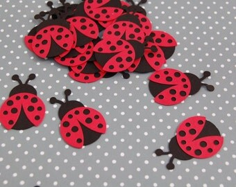 ladybug confetti 50 die cuts table scatter cardmaking