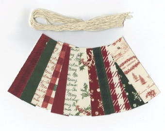 Skinny Tags // Vintage Christmas Collection Gift Hang Tags (24) Package Decor / Ready To Ship