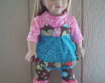 "Spring Medley capris set for any 18"" doll"