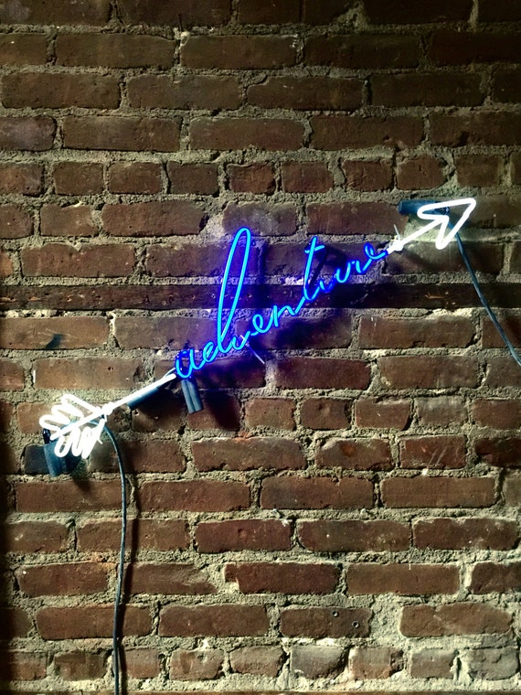 ADVENTURE Neon Sign, Ready-made