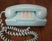 Vintage General Telephone Baby Blue Touch Tone