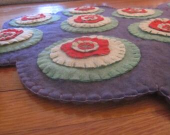 Wool Penny Rug Pair