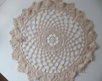 Vintage Ecru Doilies Set of 3