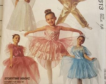 Girls Fairy Queen Princess Tinkerbell Star Ballerina 5 6 McCalls 5613