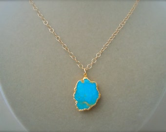 Perfect Pendant -- Turquoise Irregular-Shaped Focal Pendant Necklace