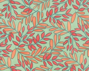 Moda Fabric - One Canoe Two - Winter Sage Vine Print by Tucker Prairie for Moda - 36001 22 - Yardage
