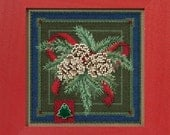 Mill Hill Buttons & Beads Winter Series Festive Pine MH14-1634 Christmas Counted Cross Stitch Kit