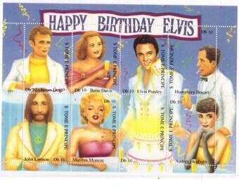 1995 Elvis Presley Birthday Tribute Stamps from São Tomé