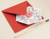 Hexaflexagon Love Machine Valentine