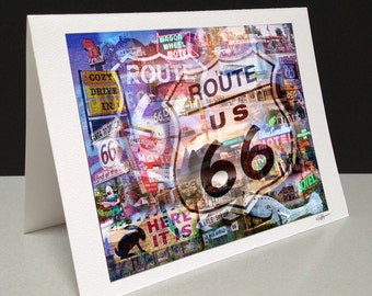 The Mother Road 5 x 7 Greeting Card - Route 66