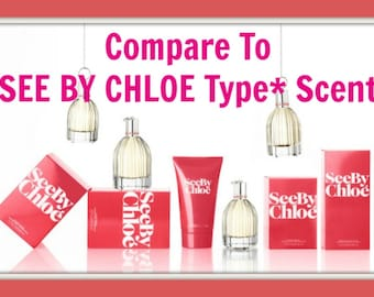 SEE Perfume Type* Scented Soy Wax Melts Tarts - Compare To Chloe' Duplication Scent - Jamine * Floral * Highly Scented - Hand Poured In USA