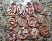 Reserved for William collection of 12 Rock art Pendants