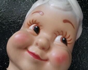 Vintage Smiling Boy Doll Head