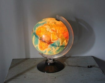vintage YOU LIGHT up my WORLD Physical Political World Globe