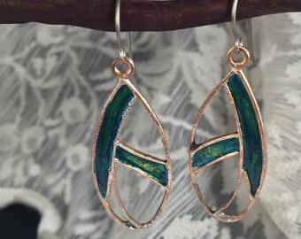 Abstract Leaf Earrings