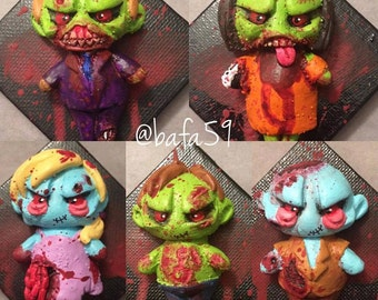 Zombie ooak wall sculpture