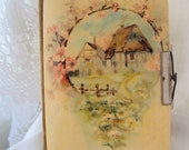 Vintage Photo Album - sweet old cottage - art project