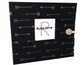 Navy & Gold Arrows Album | Ruby Love Modern Baby Memory Book