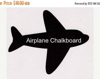 Get Organized SALE- Airplane Chalkboard Decal - 1 Large and 3 Small