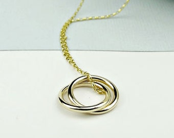 Solid Gold Necklace - Eternity -solid gold necklace- 9ct gold necklace -18ct gold necklace -eternity -wedding necklace -simple gold necklace
