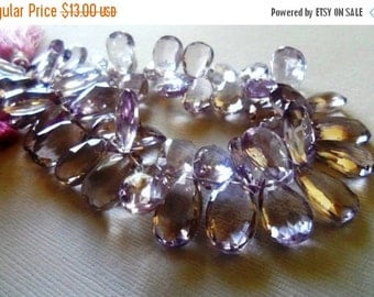 35% OFF Pink amethyst faceted pear briolette