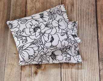 Floral Lavender Sachets -  Black & White Bedroom Decor - Scented Drawer Sachets